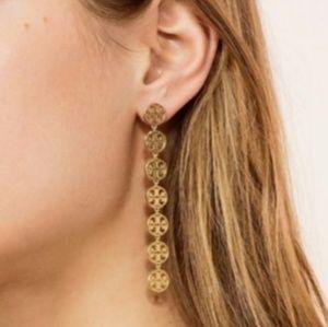 Tory Burch Gold Plated Dangle Earings